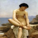 William Bouguereau (1825-1905)  The Bather  Oil on canvas, 1879  Public collection